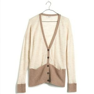 Madewell yarnmix tan cardigan sweater